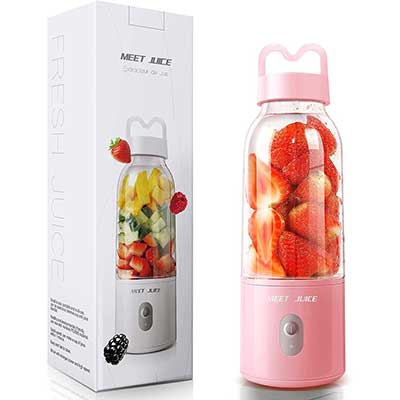 MEET JUICE Portable-Blender Personal Size with USB-Wire