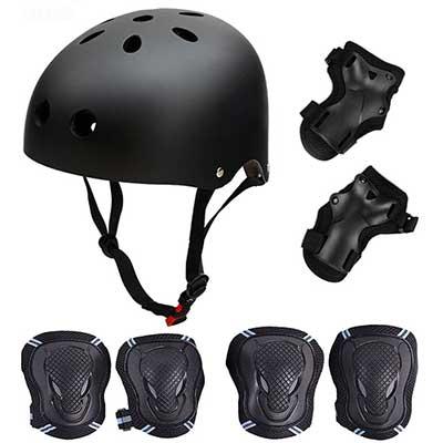 Skateboard/Skate Protection Set with Helmet