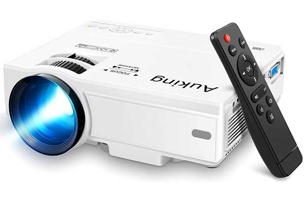 AuKing Mini Projector2021 Upgraded Portable Video