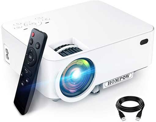 Mini Projector, Hompow 5500L Movie Projector