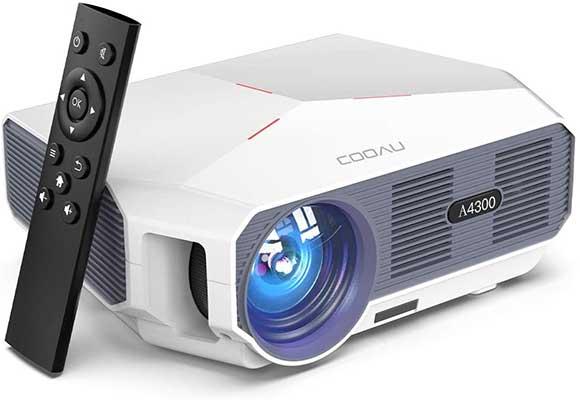 COOAU Portable Outdoor Movie Projector5500 Lumens