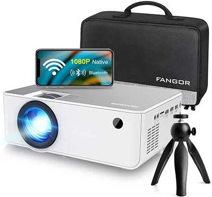 1080P HD Projector, WiFi-Projector Bluetooth-Projector