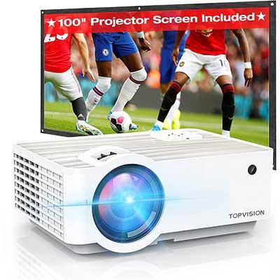 Video Projector, TOPVISION6500L Portable Mini-Projector