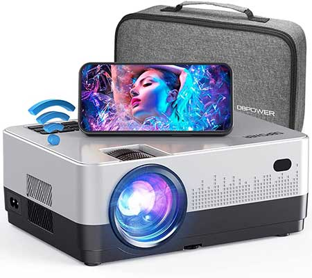 DBPOWER WIFI Projector with Carrying Case