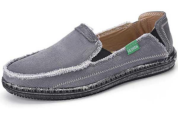 VILOCY Men's Slip On Deck Shoes Canvas Loafer