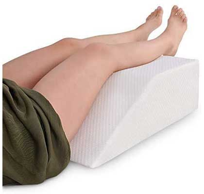 Leg Elevation Pillow with Memory Foam Top