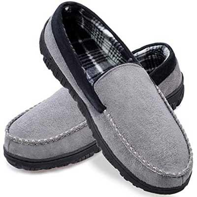 shoelocker Men's Slippers Microsuede Moccasin Shoes