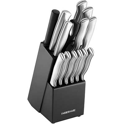 Farberware Stamped 15-Piece High Carbon Stainless Steel Knife