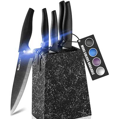 Wanbasion Marbling Kitchen Knife Set Block