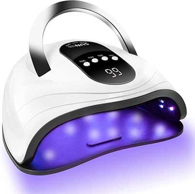ROOHUA 120-W Gel Nail Lamp LED UV-Nail-Dryer