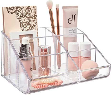 STORi Clear Plastic Makeup Organizer