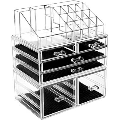 HBlife Makeup Organizer Acrylic Cosmetic-Storage-Drawers