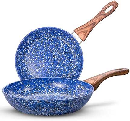 MICHELANGELO Nonstick Frying Pans, Granite
