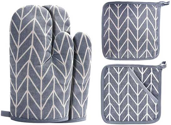 Win Change Oven Mitts and Potholders BBQ Gloves
