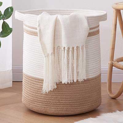 OIAHOMY Laundry Basket – Rope Basket