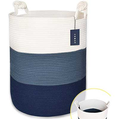 COMSE Extra Large Blanket Basket